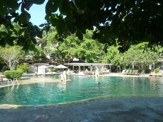 Hotel gardens and pond picture of bali garden beach for Pool garden resort argao