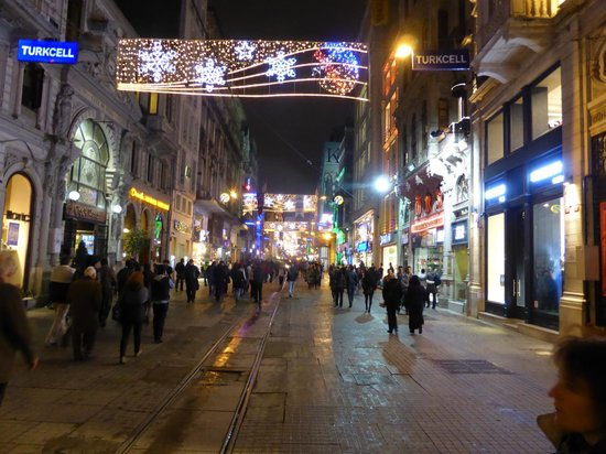 Tulip City Hotel: Taksim at night