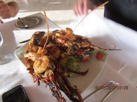 The Royal Suites Punta de Mita: Lobster and Shrimp Dinner