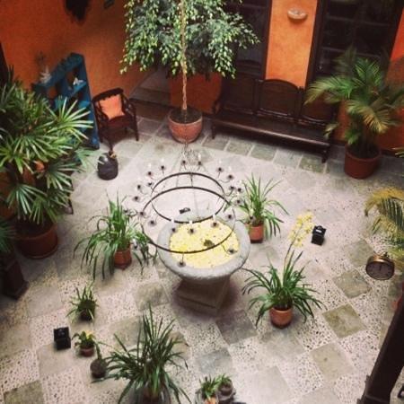 Hotel Casa del Aguila: courtyard
