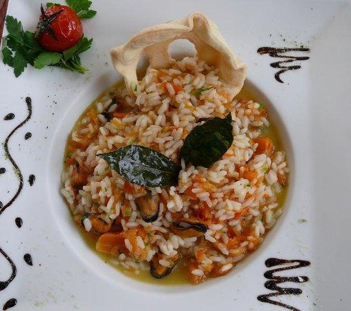 Villa Maria Restaurant: Risotto alle vongole veraci e zucca rossa