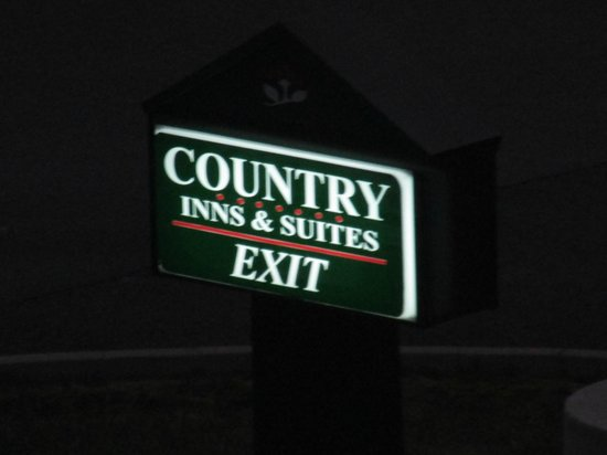 Country Inn & Suites By Carlson, Princeton : exit sign