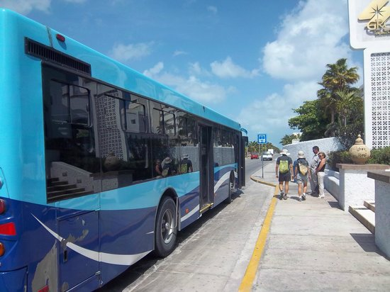Bsea Cancun Plaza: The bus stop is just 100 feet from the front gates