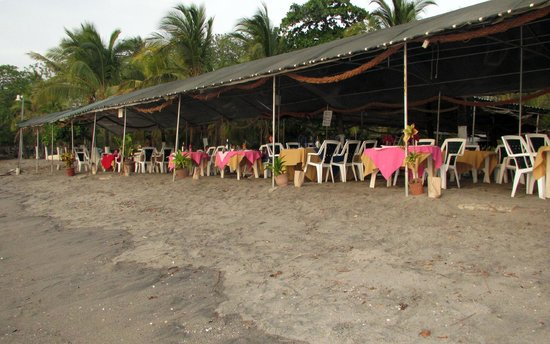 Brasilito, Costa Rica: Tables right on the beach