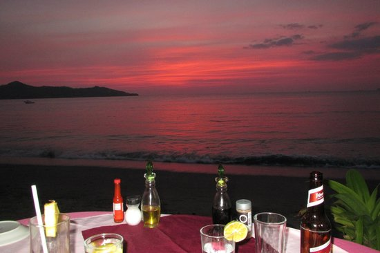 Brasilito, Costa Rica: Sunset this night was absolutely gorgeous!