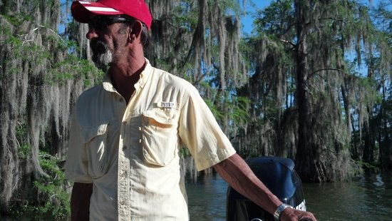 Champagne's Cajun Swamp Tours: our tour guide!