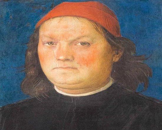 Collegio del Cambio: Perugino Self Portrait
