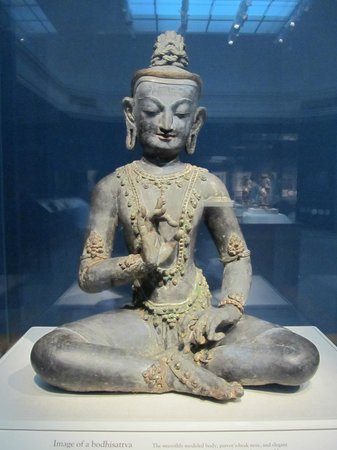 Smithsonian Institution Freer Gallery of Art and Arthur M. Sackler Gallery: Bodhisattva statue from India.