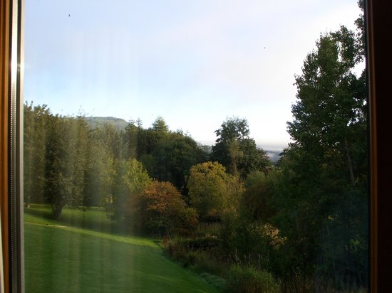 Moness Resort: view of grounds from sitting room