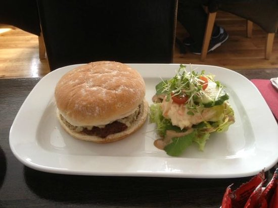 Mareena's Simply Food: Burger served with salad