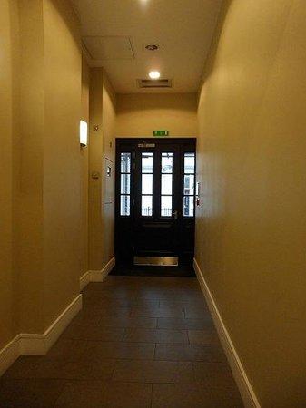 The hotel entrance door