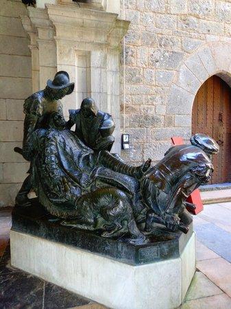 Santuario de Loyola : Escultura de Ignacio de Loyola
