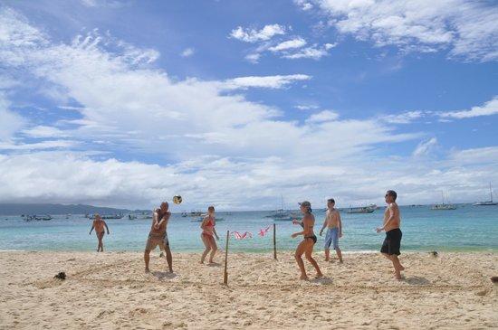 The Greenhouse (Boracay Beach House): Games on the beach.