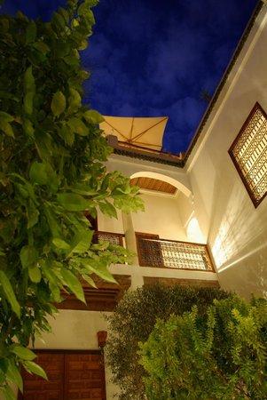 Riad l'Orangeraie: View for the patio
