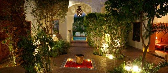 Riad l'Orangeraie: One of our two patios
