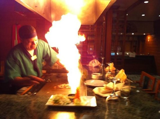 Miyako: Tepenyaki Flame Show. Medium cooked Beef was great...