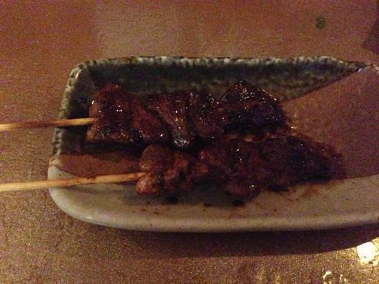 Tanuki Sushi & Sake Bar: chicken heart yakitori