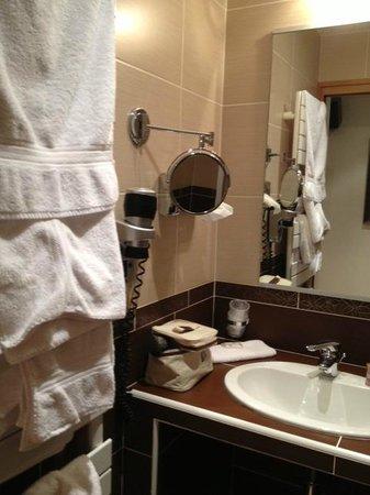 Le Dauphin Blanc : Salle de bains, avec porte coulissante pour y entrer