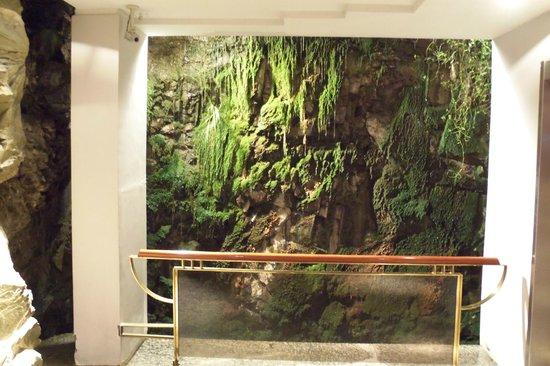 Panamericano Bariloche: A small waterfall near the elevators