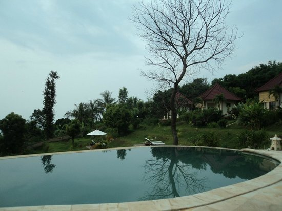 The Hamsa Bali Resort : Bungalow side pool view..