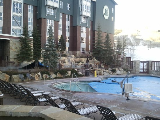 Marriott's MountainSide: hot tub, pool and slops