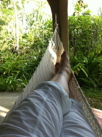 Falls Resort at Manuel Antonio: Porch of our Bungalow