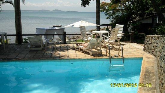 Martin Pescador: vista da piscina