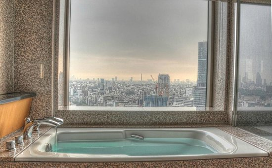 Cerulean Tower Tokyu Hotel: Bathtub with a view