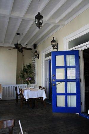 Van Breugel's: The veranda dining area