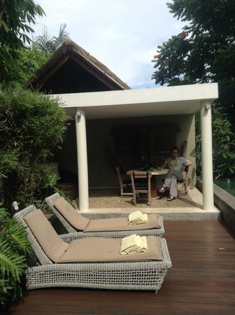 The Purist Villas and Spa : Outside courtyard
