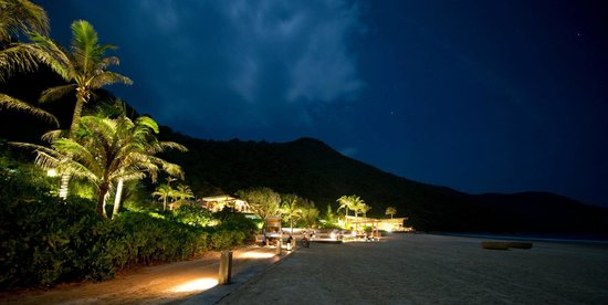 Six Senses Con Dao: resort at night