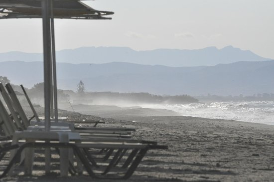 Beach in the evening just by Panos Beach Hotel