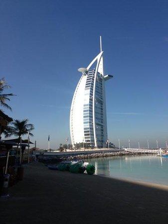 The view of the Burj al Arab from la veranda,come see for ur selves