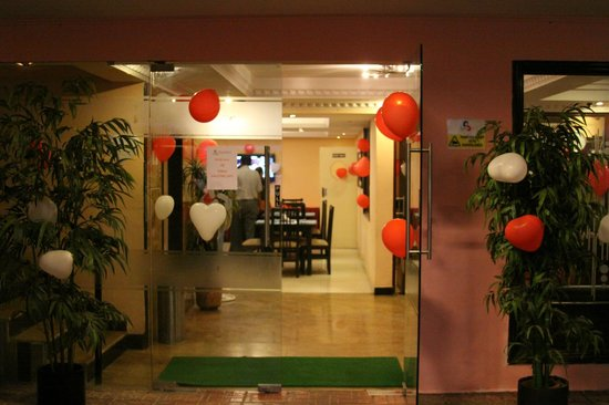 Stamford Residency: Reception Area Decorated for Valentine's Day