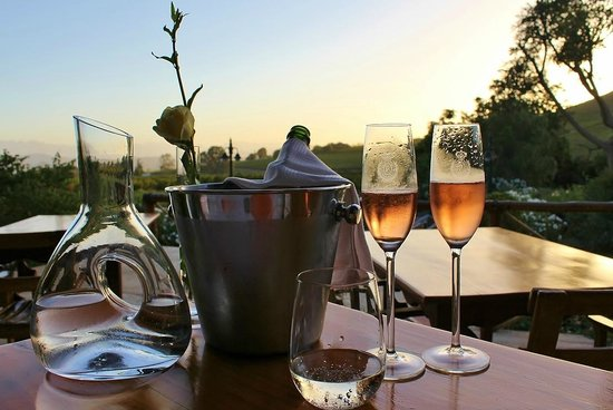 Fraai Uitzicht Restaurant: Great wine and champagne selection