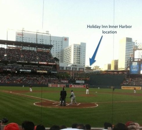 Holiday Inn Baltimore-Inner Harbor: Location of hotel from Camden Yards