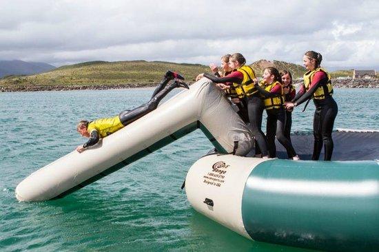 Jamie Knox Watersports: Having fun on our water trampoline