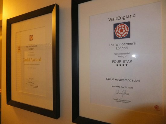 The Windermere Hotel: More hotel awards.