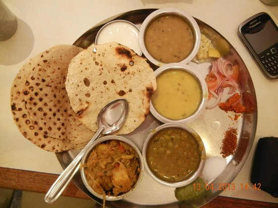 Purohit Lunch Home : full thali