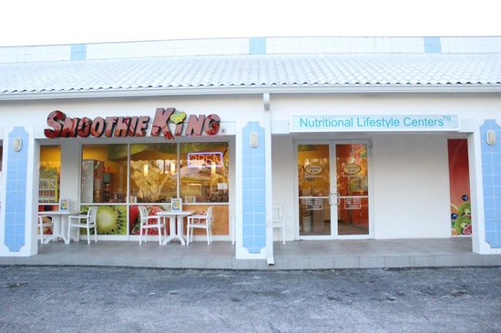 Smoothie King: Tables inside and outside...perfect for meeting up with friends or taking the kids out after sch