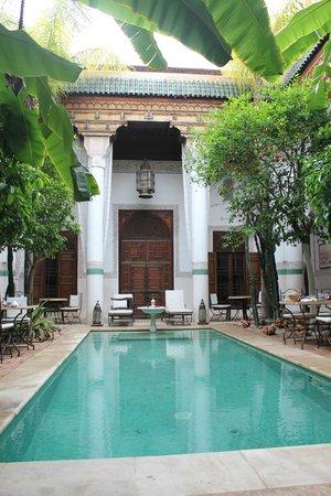 Riad Slitine: Vue du patio