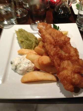Annies: The Fish Chips and Mushy Peas...A real treat