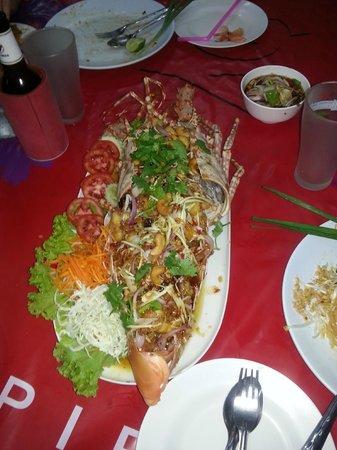 Mit Samui Restaurant : langouste sauce marinés au tamarin