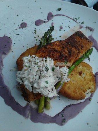 MJ's Steak and Seafood: Blackened Scottish Salmon