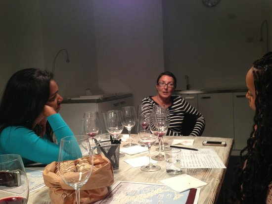 Vino Roma: Our wine teacher, Hande, talking