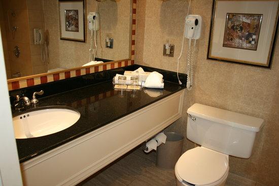 Hôtel Le Concorde Québec: La salle de bains...