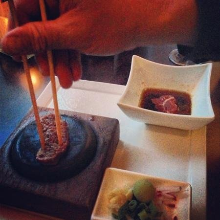 Four Seasons Hotel Denver: Kobe hot rock appetizer, yum!