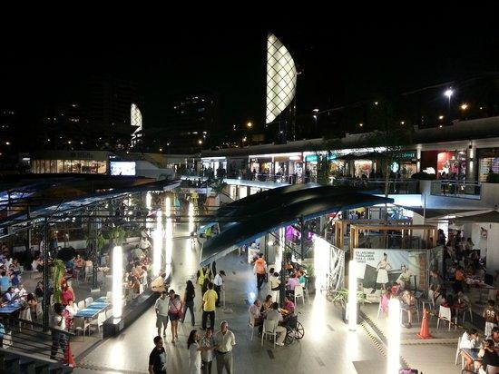 Ibis Larco Miraflores: Larcomar Shopping Center at night.