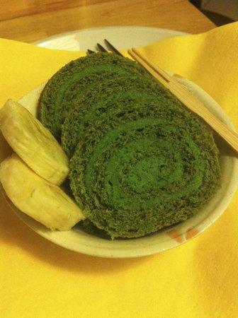 Bily jerab : Green tea roll