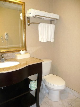 Holiday Inn Express North Bergen - Lincoln Tunnel: Bathroom--very clean